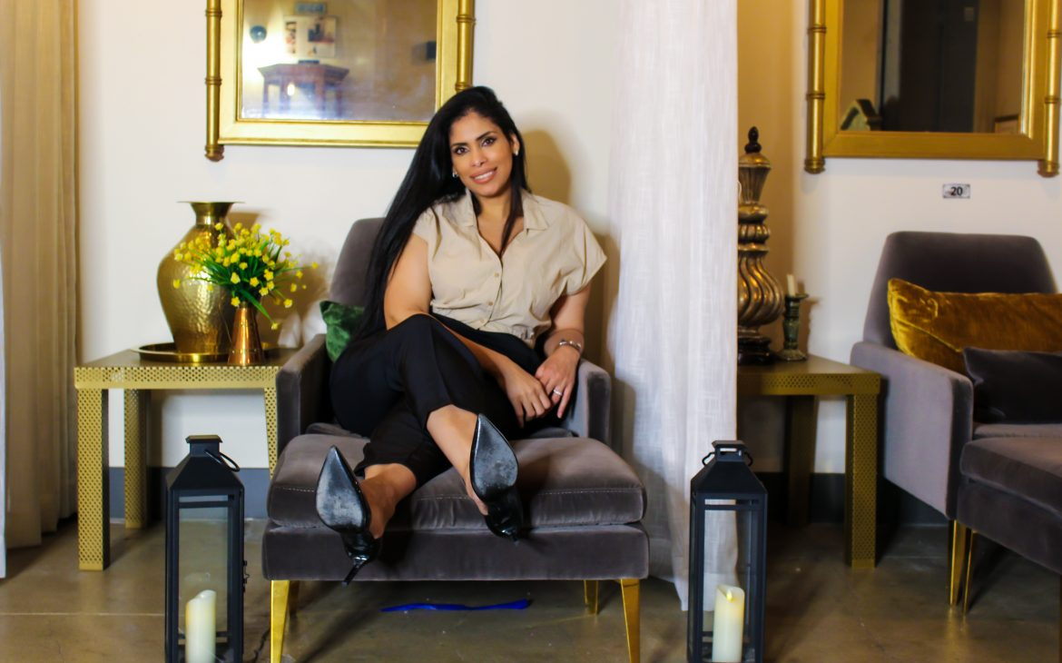 Deisy Suarez, esthetician,owner and founder of DESUAR Spa, relaxes in her luxurious spa.