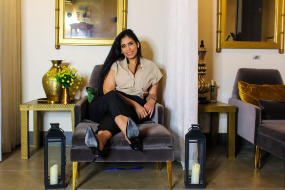 Esthetician Deisy Suarez relaxes in her luxurious downtown LA spa- Photo by Bobby McGowan