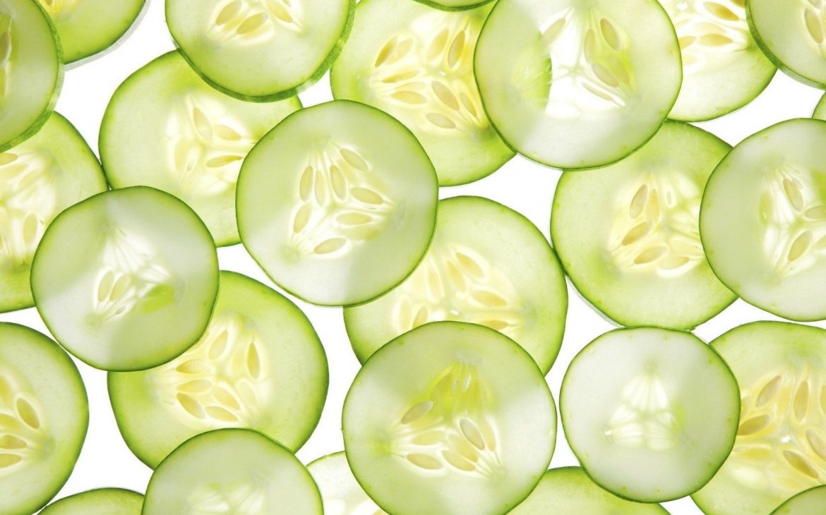 Thinly sliced cucumber