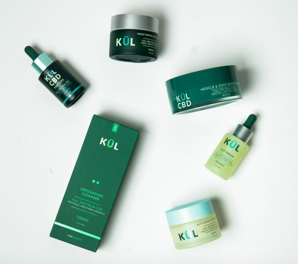 Skincare products containing CBD
