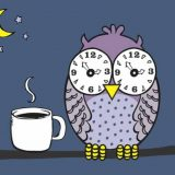 Owl suffering from insomnia